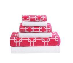 VCNY Home Clairebella Bath Towels Set, Paradise/Snow