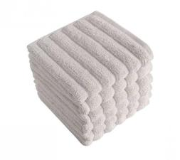 Classic Turkish Towels 6 Piece Luxury Washcloth Towel Set -