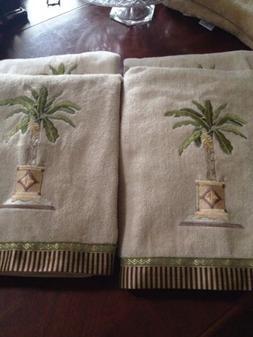 Avanti Linens Coastal Tropical Banana Palm Bath Towel Cotton