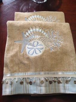 Avanti Linens Coastal Tropical By The Sea Bath Towel Cotton