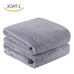 Jml Large Size Coral Fleece Bath Towel Set in 2 Pack, Comfor