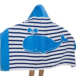 SearchI 100% Cotton 400 GSM Hooded Poncho Towel for Kids Dol
