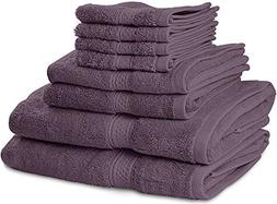 100% Cotton Bath Sheet Hand Face 8p Bathroom Towel Set Washc