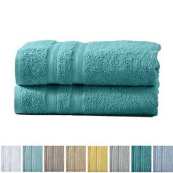 2-Pack Premium 100% Cotton Bath Towel Set  Multipack for Hom