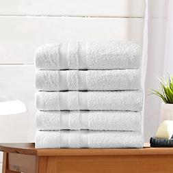 5-Pack Premium 100% Cotton Bath Towel Set  Multipack for Hom