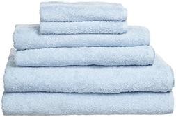 PROMIC 6 Piece Towel Sets : 2 Bath Towels, 2 Hand Towels, 2