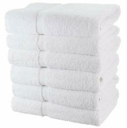 White Cotton Bath Towels for Hotel-Spa-Pool-Gym - Lightweigh