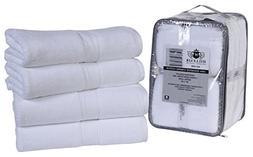 4 Pack Cotton Bath Towels set- 600 GSM 100% Combed Cotton Ba