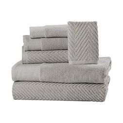 6 Piece Premium Cotton Bath Towels Set - 2 Bath Towels, 2 Ha