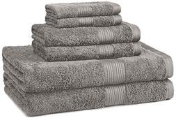 Cotton Black Towel Set Bath Hand Towels Soft Extra Large Bat