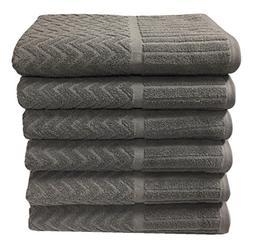 Metro 100% Cotton 6-piece Chevron Bath Towel Set