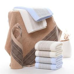 Cotton Geometric Pattern Square Hand Face Towels Baby Bath S