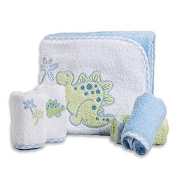 Spasilk 100% Cotton Hooded Terry Bath Towel with 4 Washcloth