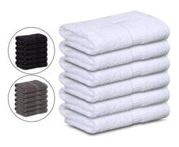 GOLD TEXTILES Cotton Hand Gym Spa Towels 4-Pack 16x30 Inches