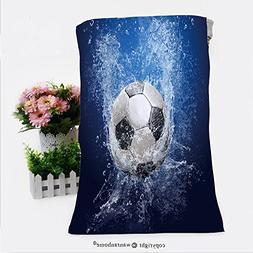 VROSELV Cotton Microfiber Bathroom Bath Towel-Water drops ar