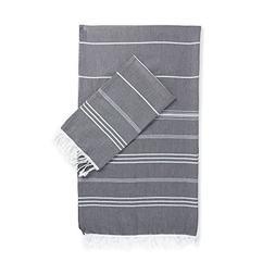 Kuprum 100 Cotton Pestemal Set of 2 Bath Towel and Hand Towe