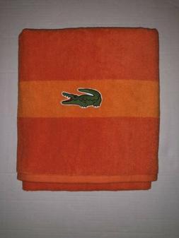 LACOSTE Cotton Signature Crocodile Logo Bright Surf Orange B