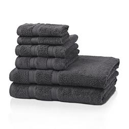 Superior 100% Cotton Smart Dry Zero Twist 6-piece towel set,