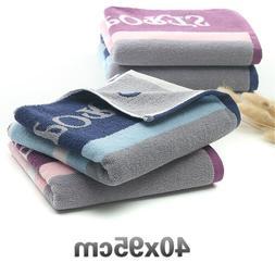 Cotton Striped Men Women Sports <font><b>Washcloth</b></font