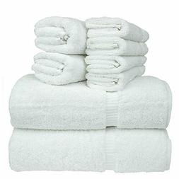 Chakir Turkish Linen 8-Piece Turkish Cotton Towel Set with 2