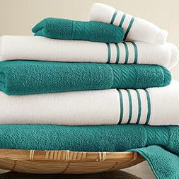 100% Cotton Towel Set - Soft and Absorbent - 6-Piece Set wit