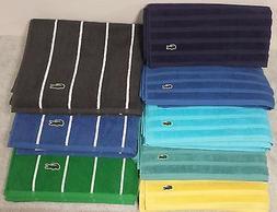 """Lacoste Croc Bath Towels 30"""" x 54"""" / 100% Cotton / Sport Str"""