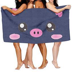 KAYERDELLE Unisex Cute Kawaii Pink Piggy Beach Towels Washcl