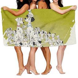Unisex Dalmations Beach Towels Washcloths Bath Towels For Te