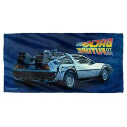 Back To The Future Delorean Licensed Beach Towel 60in by 30i