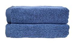 Everplush Diamond Jacquard Bath Towel, Set of 2, Navy Blue