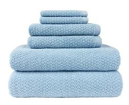 Everplush Diamond Jacquard Bath Towel 6 Piece Value Pack in