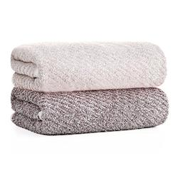 Natural Dyeing Herbe Organic Bamboo Towel 2pcs Towels Set Fa