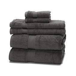 eLuxurySupply 900 Gram 6-Piece Long Staple Cotton Towel Set
