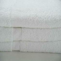 Economy Hand Towels Poly/Cotton White - CAM Border