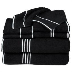 Lavish Home 8 Piece Egyptian Cotton Towel Set Hand Bath Fing