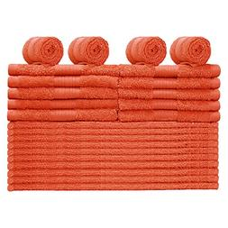Story@Home Egyptian Ringspun Cotton -24 Pcs Washcloth -FIEST