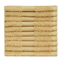 Story@Home Egyptian Ringspun Cotton -10 Pcs Washcloth -BEIGE