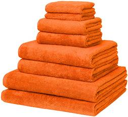 Home and Plan Turkish Cotton Bath Towel Set - Pack of 8 with