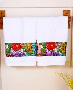 Flower Garden Hand Towels Floral Bath Kitchen Laundry Bathro