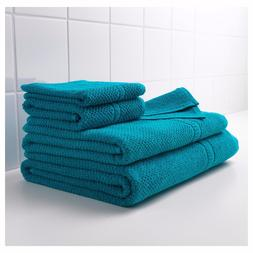 IKEA FRAJEN GREEN BLUE TURQUOISE BATH TOWELS asst'd sizes 10