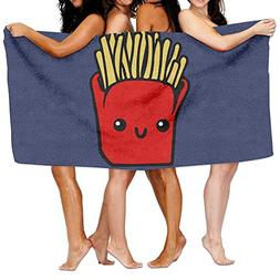 Unisex French Fries Beach Towels Washcloths Bath Towels For