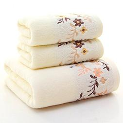 Generic 3 Piece Towel Set; 1 Bath Towel, 2 Hand Towels Cotto