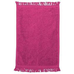 Georgiabags Terry Velour Fingertip Towel With Fringed Ends 1
