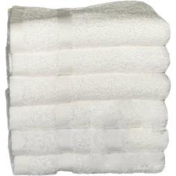 "Globe House Products GHP 6-Pcs White 100% Cotton 27""x50"" Plu"