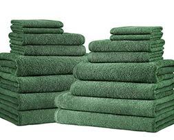 SALBAKOS Giallo 16 Piece Turkish Hotel Collection Bath Towel
