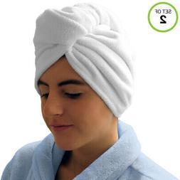 Evelots Hair Drying Towel Wrap-Turban-Microfiber-Dry Fast-Lo