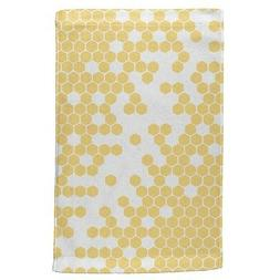 Honeycomb Bees All Over Hand Towel