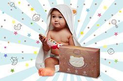 Baby Hooded Bath Towel – 100% Bamboo Terry – For Boys an