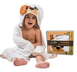 Baby Hooded Bath Towel Washcloth Shower Gift Set Organic Bam
