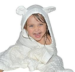 Baby Hooded Towel for Kids - Best for Keeping Baby Dry and W